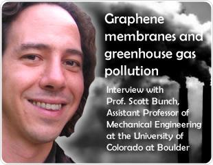 Graphene Membranes And Greenhouse Gas Pollution : An Interview With Professor Scott Bunch